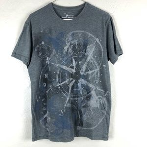 Marc Anthony Compass Abstract Graphic Tee Men Sz M